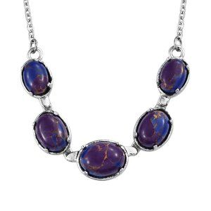 Mojave Purple Turquoise Necklace Stainless Steel